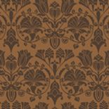Flamante Flock Wallpaper 99060 Lambada Copper By Holden Decor